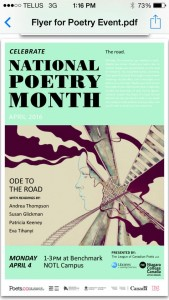 National Poetry Month Niagara